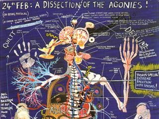 Keith Tyson: detail from 'Studio Wall Drawing: A Dissection Of The Agonies!', 2001