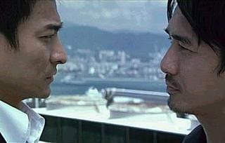 Andy Lau and Tony Leung facing off