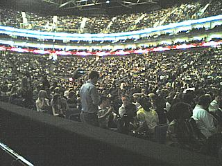 A section of Chris Rock's audience, O2 Arena, Saturday May 24th 2008. (Security were smacking the cameras out of the hands of anyone who took pictures during the show, which is why you're not getting a picture of Chris himself here.)