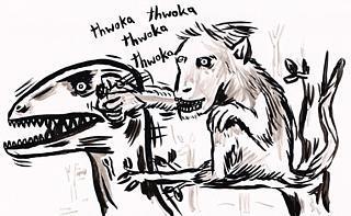Monkey Punch Dinosaur!