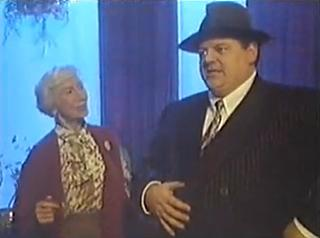 Jean Anderson and Robbie Coltrane in The Bogie Man, seconds before a badly adapted gag based around the word 'piece' being a slang term for both 'gun' and 'sandwich'. In Glasgow, anyway.
