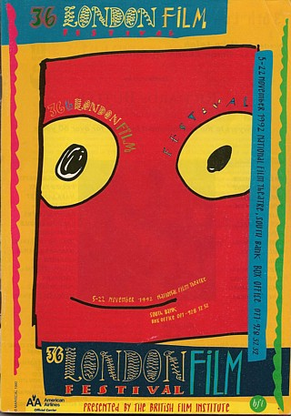 Javier Mariscal's ludicrously perky design for the LFF 1992 poster. Again, it's too good to crop for landscape mode.