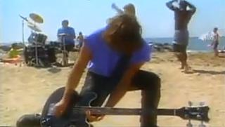 Great Moments In Television History: New Order on a 1993 edition of Top Of The Pops, performing live by satellite from the set of Baywatch. Look it up if you don't believe me.