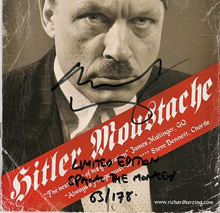 Richard Herring and his Hitler Moustache. I wasn't trying to imply that this is Nick at all, it's just the way the layout happened. I will STILL keep doing this joke EVERY YEAR until someone notices.