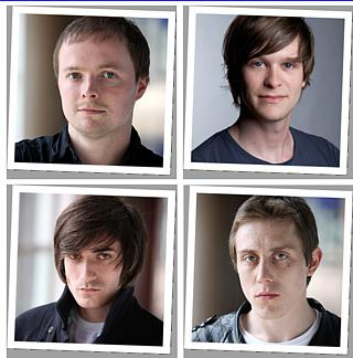 We are the Quads! We are the Quads! We are we are we are the Quads! Clockwise from top left: Daniel Curtis the Romantic, Rob Kendrick the Hypocrite, Jack Roth the Lunatic, George Maguire the Tough Guy