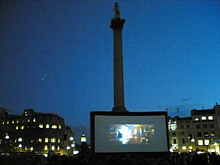 The world's best new films, there in London. (Specifically in the middle of Trafalgar Square, during the 'London Moves Me' screening on 22/10/2009.)