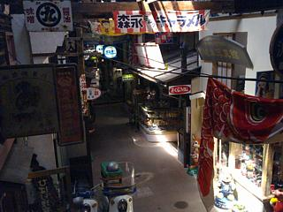 View from the upstairs level of the Showa museum, Showa-kan