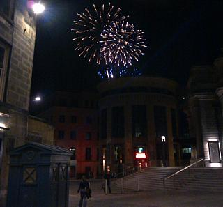 Bonus picture number 2: Tattoo fireworks, as seen above the Traverse Theatre