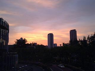 Sunset over Tokyo. It'd make more sense thematically if it was a sunrise, so let's all pretend that it is, okay?