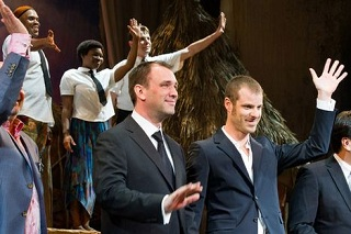 Trey Parker and Matt Stone, at the opening night of The Book Of Mormon