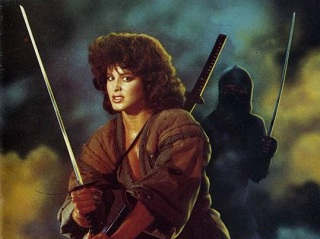 Detail from the UK/US poster art for Ninja III: The Domination. Compare this with the artwork that accompanies my Mostly Film piece, and see if you can spot the subtle changes that were made for other territories.