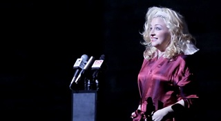 Kate Miller-Heidke channels her inner Pom, playing the British Dancing Girl in ENO's 2012 production of The Death Of Klinghoffer. (There's a review on the site here somewhere if you search for it.)