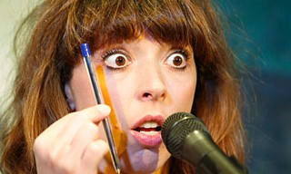 Bridget Christie demonstrates the most blatant example of product placement in this year's Fringe