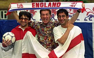 Baddiel, Skinner and Broudie circa 1996. There's a reason why this particular picture is here, but you'll need to see the show to find it out.