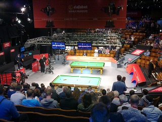 World Snooker Championships, Crucible Theatre. (So maybe I'll do that, then.)