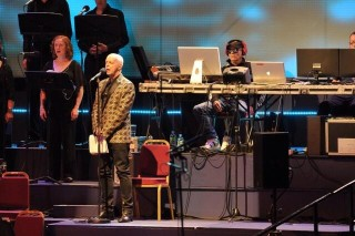 Neil Tennant and Chris Lowe. Well, at least *one* of them made an effort to dress up.