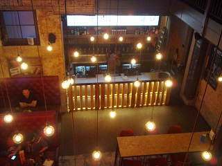 Looking down on the Southampton bar