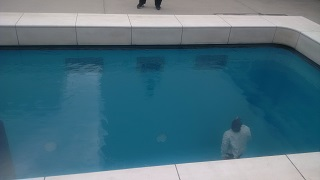 The BBG normally avoids the pool on holiday, but she made an exception for the one at Kanazawa's 21st Century Museum of Contemporary Art.