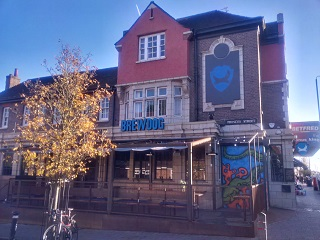 It's rare that I use a daytime shot of the outside of a BrewDog bar, isn't it? So here's one.