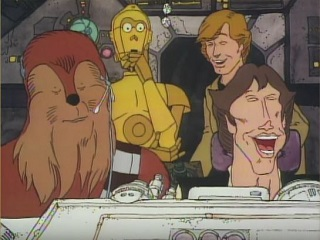Consider the quality of the artwork in this cartoon, and then consider *this*: the cartoon is the only part of the Star Wars Holiday Special that's ever received an authorised release.