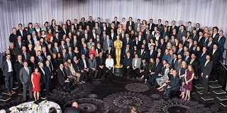 A little #OscarsSoWhite puzzle for you, courtesy of The Guardian (search for 'Oscar nominees class photo'): can you spot Sanjay's Super Team director Sanjay Patel in the lineup of this year's Oscar nominees? Click to see the answer.