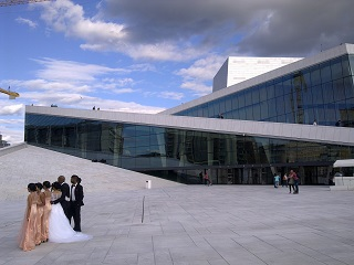 Oslo Opera House, available for weddings etc
