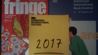 Full disclosure: I don't actually have a hard copy yet of the International Festival programme, so that yellow thing in the middle is a printout of the front cover of the PDF version. Looks pretty obvious now I've mentioned it, doesn't it?