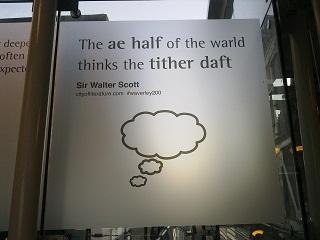 Sir Walter Scott, bein' a fuckin' radge at Edinburgh Waverley station