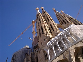 Sagrada Familia. Come back in 2026 and those cranes may be gone by then.