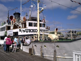 S/S Ukkopekka. Not pictured: the splendid look on one horrified passenger's face when the ship's horn went off next to her without warning.