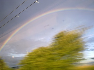 View from the Edinburgh-London train, somewhere outside York, Saturday August 20th, 7.23pm