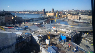 Slussen, in Stockholm. It'll be nice when it's finished. (Around 2026, apparently.)