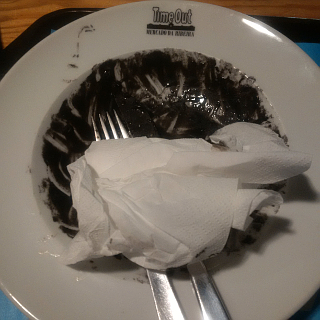 This is what the risotto negro at Time Out Market looks like after you've eaten it.