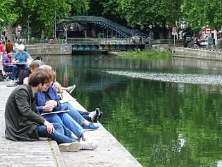 Le Déjeuner sur le Canal Saint-Martin, par La BBG