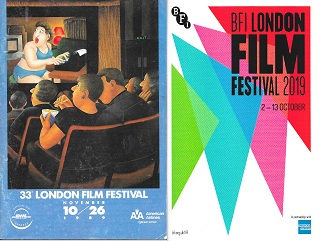 Left: 1989 LFF programme, by Beryl Cook. Right: 2019 LFF programme, by DBLG. I miss curves.