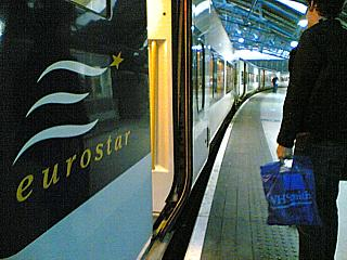A Eurostar, yesterday (it's actually half past midnight in Paris right now)