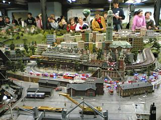 Hamburg, as seen in Miniatur Wunderland. Those aren't really giant people standing around in the background.