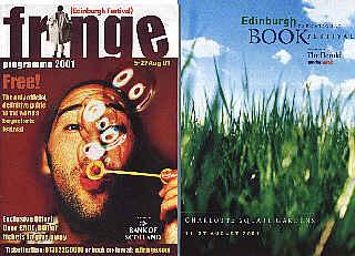 Fringe and Book Festival programmes for 2001...