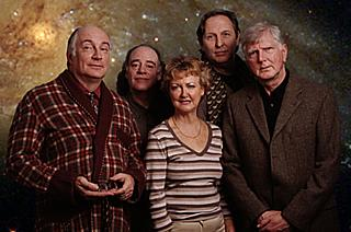 Yes, it's been 24 years since that first picture. The cast as they look today: Simon Jones, Geoffrey McGivern, Susan Sheridan, Mark Wing-Davey, Stephen Moore.