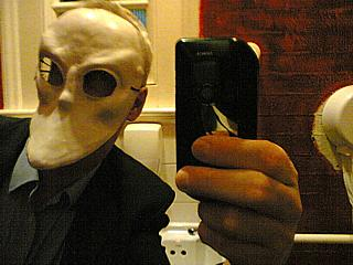 Disabled toilet, Battersea Arts Centre, 8:44pm. And some dick in a mask.