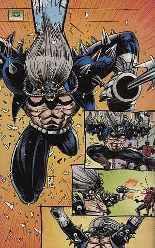 King Mob goes gun crazy, courtesy of artist Jill Thompson