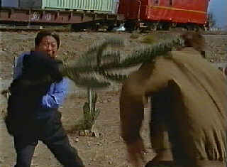 Sammo demonstrates the deadly art of Cactus Fu