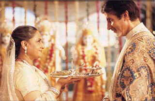 Amitabh Bachchan and his real-life missus Jaya, suitably typecast as husband and wife in K3G
