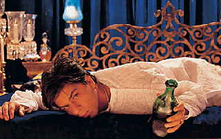 Shahrukh Khan as Devdas, with booze. Not pictured: whores.