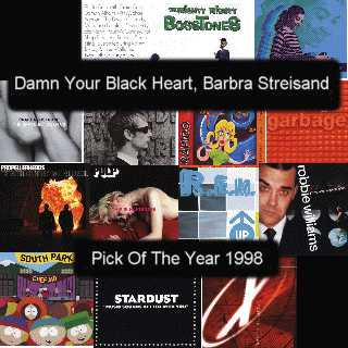 Sleeve art from Damn Your Black Heart, Barbra Streisand