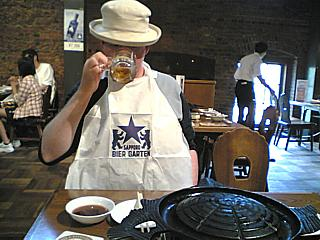 Sapporo Biergarten. And some dick in a hat.