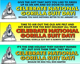National Gorilla Suit Day