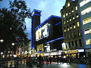 The Odeon Leicester Square: the cinema known to only two people on the planet as The BFO Odeon, and venue for the LFF Opening Gala, 'The Constant Gardener'. Taken at 6.11pm on Wednesday October 19th.