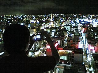 Sapporo by night, from the 30th floor of the JR Tower Hotel