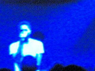 Saul Williams, live at the Scala in London in May 2005. Yes, totally beyond the capabilities of the Nokia 7610's camera, but I kinda like the effect.